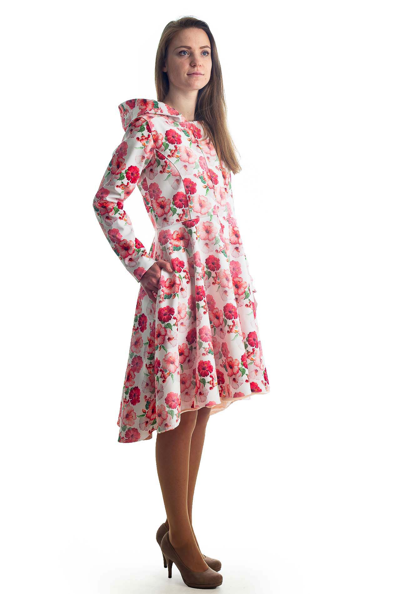... Buy online Red Floral Woman Raincoat City Sun by Rain Sisters ... 0dfe7cf34