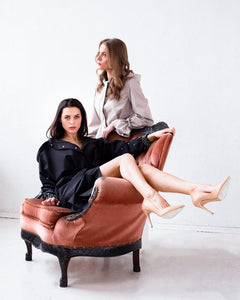 RainSisters Luxurious Black Coat and Sophisticated Beige coat