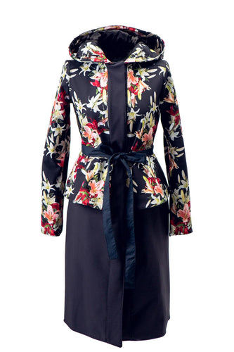 Navy-Lilies-Dark-Blue-Coat-by-RainSIsters-Product-Photo