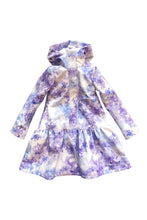 Light Blue Trapeze Raincoat for Girls front