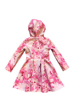 Pink Fit and Flare Raincoat for Girls back