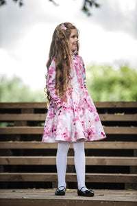 Pink Fit and Flare Raincoat for Girls pockets