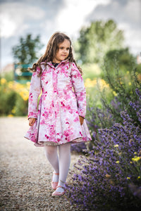 Fit and Flare Raincoat for Girls front