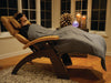 Create you own spa - Relax in a Zero Gravity Chair with weighted blanket and eye mask