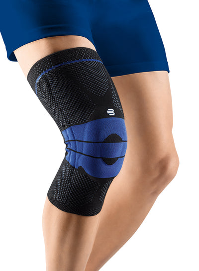 Front view product image of the GenuTrain Knee Brace on a male's leg