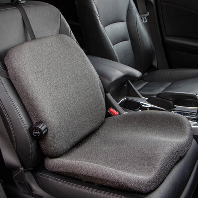TravelLite Backrest attached to a car seat