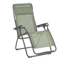 Lafuma Futura Zero Gravity Recliner shown open in Moss with Titan frame