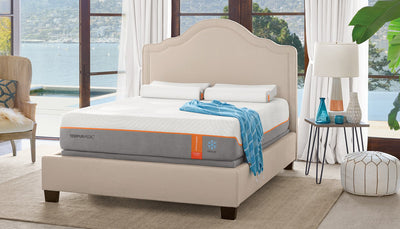 TEMPUR-Contour Elite Breeze mattress setup in modern bedroom
