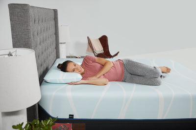 Tempur-Breeze ProHi Head on Pillow Eyes Closed