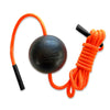 "Tiger Ball 1.7"" Massaer Ball on a rope, black and orange"