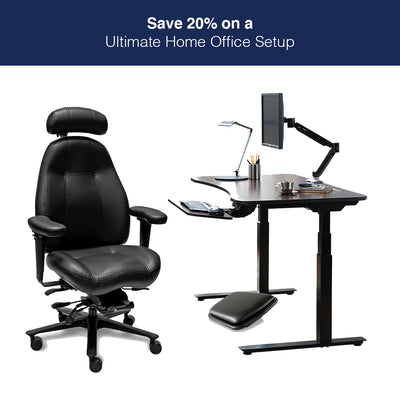 Ultimate Office Setup with Lifeform Ultimate Executive Chair and Peripheral Logix Desk
