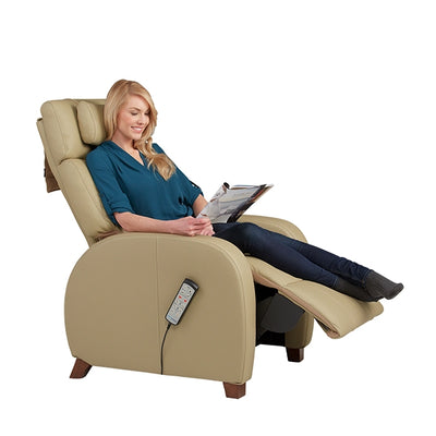 Women reading article on the Cafe Recliner by Positive Posture