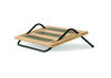 FR100 Tilting Foot Rest by Humanscale, natural wood finish