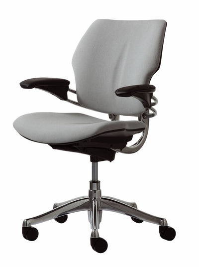 Side view product image of the Gray Freedom Task Chair