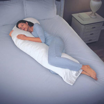 Snoozer Body Pillow Full size with sleeping women