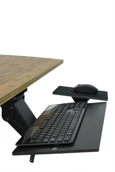 Keyboard Tray Adjustable Below Desk  Ergonomic