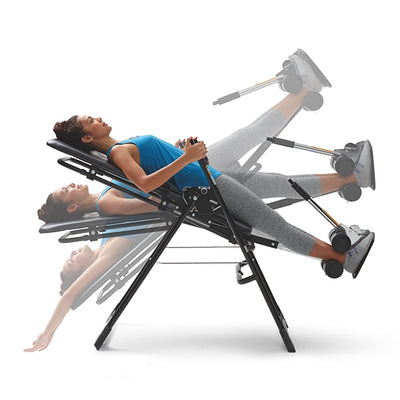 Shadows representing different positions of the  Mastercare Back-A-Traction Inversion Table