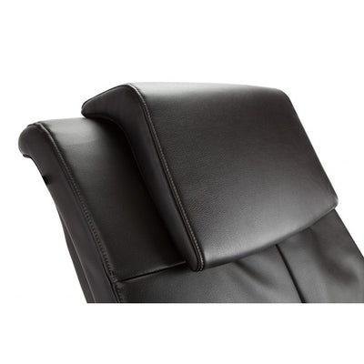 Close up view of the headrest for the Wholebody massage chair