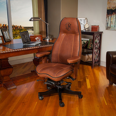 Matching leather with custom embroidery Lifeform High Back Executive Office Chair
