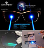 Metrovision Anti Blue-ray UV Protected Computer Screen and driving Glasses