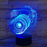 3D Acrylic Table Lamp, for Home Office, Perfect with USB Plug, Compatible with Laptop, Powerbank and Wall Socket LED Light, 10-inch