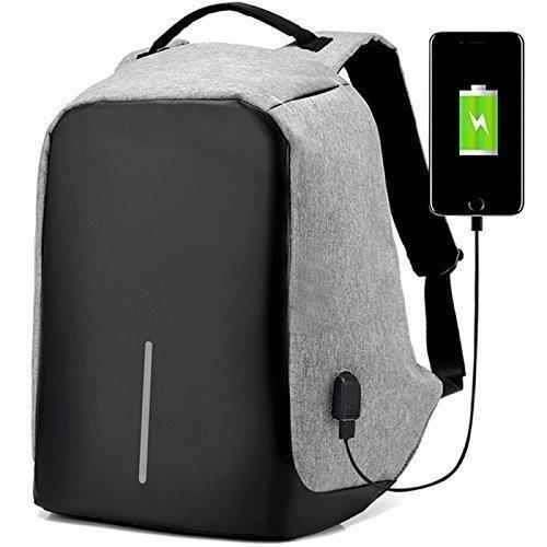Anti-Theft Water Resistant Travel Backpack Suitable For Laptop, Camera, College Bag (With Powerbank)