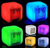 TUZECH 7- COLOUR CHANGING LED CUBE CLOCK