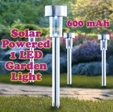 Solar Powered Rechargeable LED Lawn Garden Light Lamp Auto On Off Waterproof