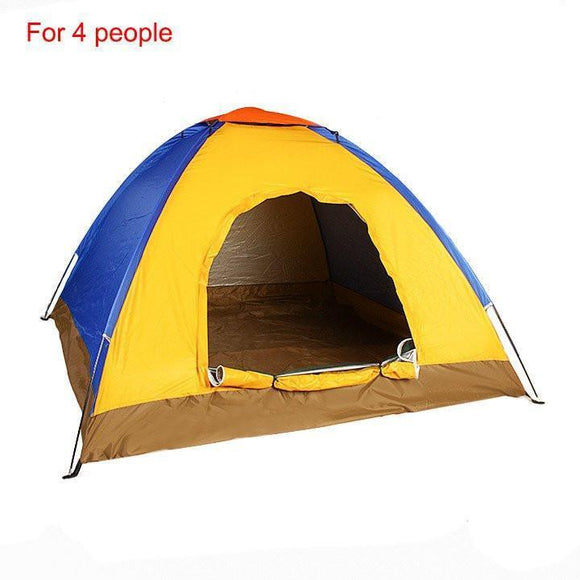 Waterproof UV Outdoor Hiking Tents 4 person with Carrying Pouch