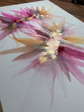 Load image into Gallery viewer, 'Intertwined' - Original floral painting in pink, purple and yellow.