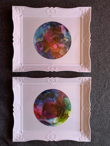 Set of 2 galaxy paintings - Aesthetic Alchemy Art