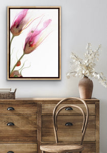 Alcohol ink poster prints in various sizes | Abstract art print with quirky flowers.
