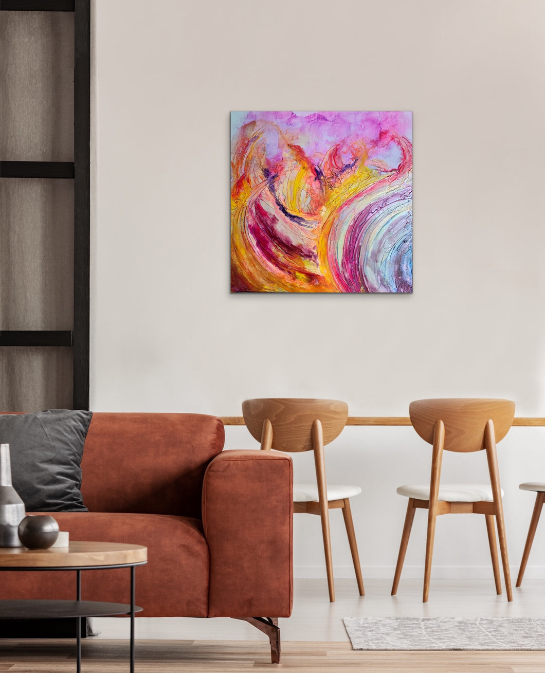 'In Turmoil' Abstract painting on canvas- Original abstract art - Wall art - Australian made art.