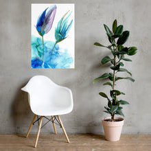 Load image into Gallery viewer, Floral alcohol ink art poster. Abstract alcohol ink poster print with flower. - Aesthetic Alchemy Art