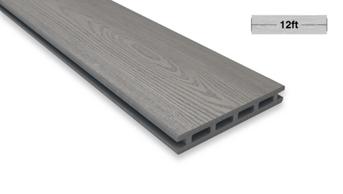 12.1 Ft Grey Color Decking Board - Factory Direct Composites .inc