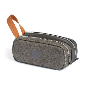 Ultraolive Pebble Double Pouch Dopp Kit Grey Rust outlnd Canada