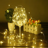 2-20M USB LED Copper Wire String Lights Fairy Lights Xmas Party Waterproof 5V