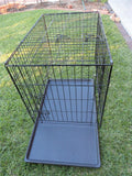 Large 91cm Collapsible 2 Doors Pet Dog Puppy Crate Cage Tray