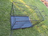 XL 105cm Collapsible 2 Doors Pet Dog Puppy Crate Cage Tray