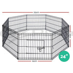 61cm 8 Panel Pet Dog Puppy Rabbit Enclosure Play Pen