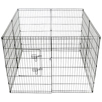 91cm 8 Panel Pet Dog Puppy Rabbit Enclosure Play Pen