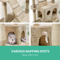180cm Cat Tree Trees Scratching Post Scratcher Tower Condo House Furniture Wood