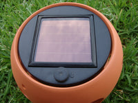 4x CERAMIC BOWL BUBBLE DESIGN POT TABLE SOLAR LIGHT 004