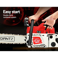 "62cc Petrol Commercial Chainsaw E-Start Top Handle 20"" Bar Tree Chain Saw"