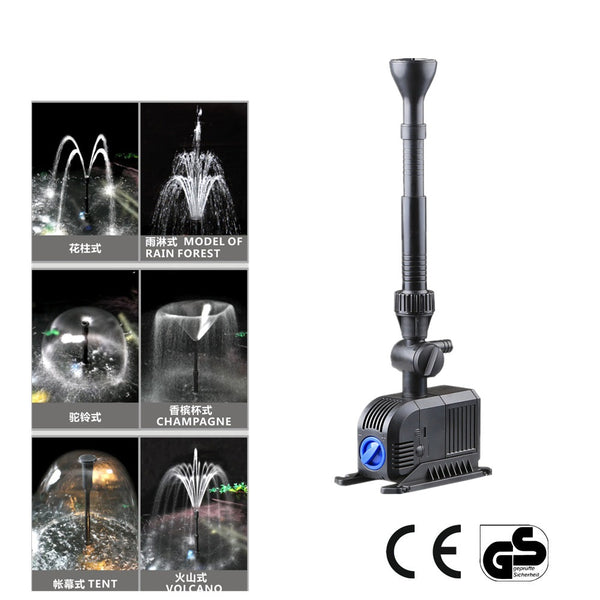5000L/H Multi Aquarium Submersable Pump Fish Pond Water Fountain Fall Feature