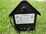3W Day/Night Solar Fountain Pump W/Timer LED Light Battery P011B