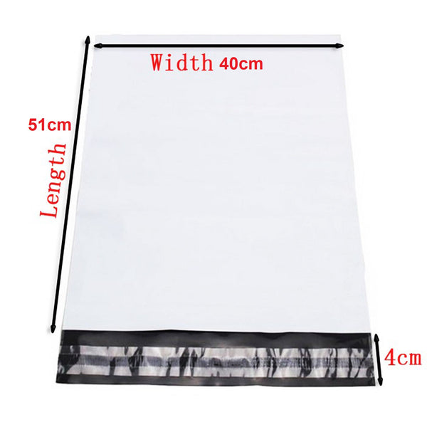 100x 400 x 550mm Poly Mailer Plastic Satchel Courier Self Sealing Shipping Bags