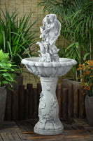 Solar pump powered Garden Outdoor Fairy Flower Water Fountain Feature SL277