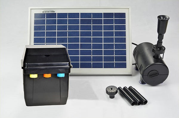 Day/Night Solar Panel POND WATER Fountain Feature PUMP W/ Battery LED Light 800L