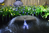 Day/Night Solar WATER Fountain Feature PUMP Timer Battery LED Light 1500LPH 3M